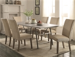 Webber 5 Piece Dining Table Set in Driftwood Finish by Coaster - 105581