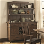 Padima Server and Hutch in Rustic Cognac Finish by Coaster - 105704