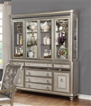 Bling Game Buffet and Hutch in Metallic Platinum Finish by Coaster - 107314