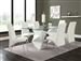 Ophelia 5 Piece Dining Table Set in White Finish by Coaster - 121571