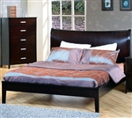 Stuart Platform Bed in Rich Cappuccino Finish by Coaster - 200300Q