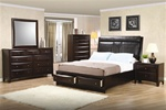 Phoenix Storage Platform Bed 6 Piece Bedroom Set in Rich Deep Cappuccino Finish by Coaster - 200419