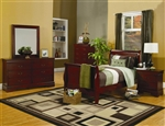 Louis Philippe 4 Piece Youth Bedroom Set in Cherry Finish by Coaster - 200431T