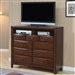Hillary Media Chest in Warm Brown Finish by Coaster - 200648