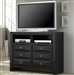 Briana Media Chest in Black Finish by Coaster - 200706