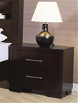 Jessica 2 Drawer Nightstand in Cappuccino Finish by Coaster - 200712