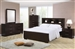 Jessica Bookcase Bed 6 Piece Bedroom Set in Cappuccino Finish by Coaster - 200719