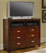 Tiffany Media Chest in Cherry Finish by Coaster - 200766