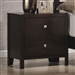 Zoe Nightstand in Rich Dark Brown Finish by Coaster - 200802