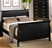 Louis Philippe Bed in Black Finish by Coaster - 201071Q