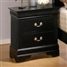 Louis Philippe Nightstand in Black Finish by Coaster - 201072