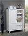 Sandy Beach 8 Drawer Chest with Sliding Door in White Finish by Coaster - 201307