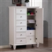 Sandy Beach Door Chest in White Finish by Coaster - 201308