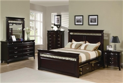Manhattan 6 Piece Bedroom Set in Rich Espresso Finish by Coaster - 201311