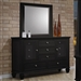 Sandy Beach Dresser in Black Finish by Coaster - 201323