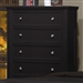 Sandy Beach 5 Drawer Chest in Black Finish by Coaster - 201325