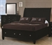 Sandy Beach Storage Bed in Black Finish by Coaster - 201329Q