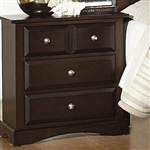 Harbor Nightstand in Rich Cappuccino Finish by Coaster - 201382