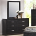 Dylan Dresser in Black Finish with Black Vinyl Upholstery by Coaster - 201403