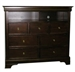 Versailles Media Chest in Deep Mahogany Finish by Coaster - 201486