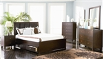 Lorretta Storage Bed 5 Piece Youth Bedroom Set in Deep Brown Finish by Coaster - 201511F
