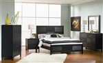 Grove 6 Piece Bedroom Set in Black Finish by Coaster - 201651