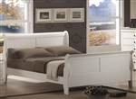 Louis Philippe Bed in White Finish by Coaster - 204691Q