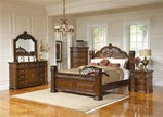 DuBarry 6 Piece Bedroom Set in Rich Brown Finish by Coaster - 201821