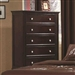 Sandy Beach 5 Drawer Chest in Cappuccino Finish by Coaster - 201995