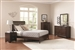 Simone 6 Piece Bedroom Set in Light Cappuccino Finish by Coaster - 202181