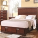 Hyland Storage Bed in Dark Cherry Finish by Coaster - 202241Q