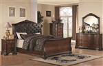 Maddison 6 Piece Bedroom Set in Warm Cappuccino Finish by Coaster - 202261