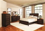 Conway Panel Bed 6 Piece Bedroom Set in Two Tone Finish by Coaster - 202301