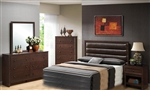 Remington 4 Pc Bedroom Set in Cherry Finish by Coaster - 202311H