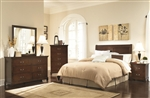 Tatiana 4 Pc Youth Bedroom Set in Warm Brown Finish by Coaster - 202391HY
