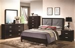 Andreas 6 Piece Bedroom Set in Cappuccino Finish by Coaster - 202471