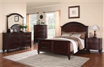 Emily 6 Piece Bedroom Set in Deep Brown Cherry Finish by Coaster - 202561