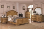 Emily 6 Piece Bedroom Set in Light Oak Finish by Coaster - 202571