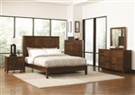 Joyce 6 Piece Bedroom Set in Walnut Finish by Coaster - 202841