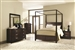 Ingram 6 Piece Bedroom Set in Antique Brown Finish by Coaster - 202931