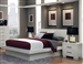 Jessica Platform Bed in White Finish by Coaster - 202990Q