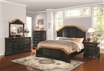 Oleta 6 Piece Bedroom Set in Black and Brown Two Tone Finish by Coaster - 203180
