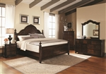 Luciana 6 Piece Bedroom Set in Brown Cherry Finish by Coaster - 203221
