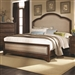 Laughton Upholstered Bed in Rustic Brown Finish by Coaster - 203261Q
