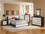 Kimball Black and White Upholstered 4 Piece Youth Bedroom Set by Coaster - 203331T