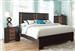 Dominic Bed in Two Tone Charcoal and Oak Finish by Coaster - 203531Q