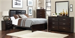 Palmetto 6 Piece Bedroom Set in Cappuccino Finish by Coaster - 203551
