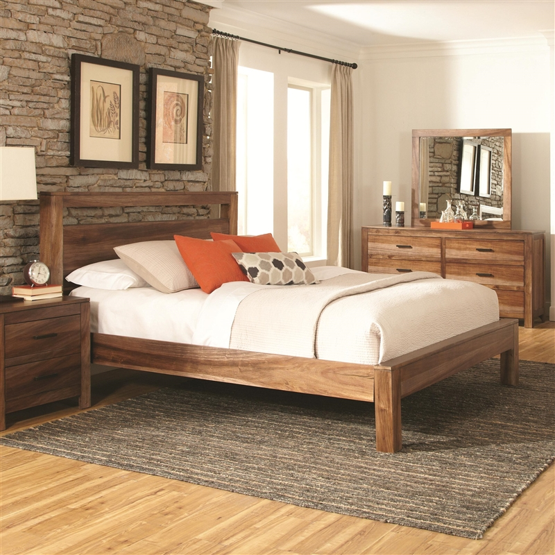 Peyton Bed In Natural Finish By Coaster 203651q