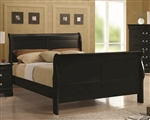 Louis Philippe Bed in Black Finish by Coaster - 203961Q