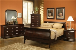 Louis Philippe 6 Piece Bedroom Set in Rich Cappuccino Finish by Coaster - 203981N